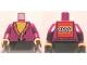 Part No: 973pb1261c01  Name: Torso Harry Potter Dumbledore Pattern - LEGO Logo on Back  / Light Purple Arms / Light Flesh Hands