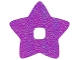 Part No: clikits271pb01  Name: Clikits, Icon Accent Foil Star 4 3/4 x 4 3/4 with Textured Iridescent Pattern