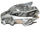 Lot ID: 234470147  Part No: 11113pb02  Name: Flywheel Fairing Wolf Shape with Fangs and Black, Silver and White Pattern
