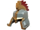 Part No: 18183pb01  Name: Minifigure, Headgear Helmet Castle with Cheek and Nose Protection with Gold Trim and Crest with Red Tips Pattern