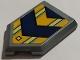 Part No: 22385pb207  Name: Tile, Modified 2 x 3 Pentagonal with Dark Blue Arrows Pattern (Sticker) - Set 70322