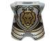 Part No: 2587pb32  Name: Minifigure Armor Breastplate with Leg Protection, Lion Head Pattern