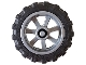 Part No: 50862c01  Name: Wheel 15mm D. x 6mm City Motorcycle with Black Tire 21mm D. x 6mm City Motorcycle (50862 / 50861)