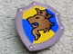Part No: 51711pb01  Name: Duplo Utensil Shield, Angled Triangle with Gold Lion and Crown Facing Right Pattern