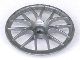 Part No: 58088  Name: Wheel Cover 7 Spoke with Axle Hole - 56mm D. - for Wheel 44772