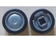 Part No: 93594c01  Name: Wheel & Tire Assembly 11mm D. x 6mm with Smooth Hubcap with Black Tire 14mm D. x 6mm Solid Smooth (93594 / 50945)