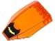 Part No: 45705pb018  Name: Windscreen 10 x 6 x 2 Curved with Gold Bat Logo on Black Background Pattern (Sticker) - Set 76012