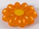 Part No: 48343pb01  Name: Clikits, Icon Flower 10 Petals Giant with Pin, Painted Yellow Center (McDonald's Promo)