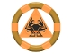 Part No: 87748pb01  Name: Ring with Center Triangle with Gold Bands and Crab Pattern (Atlantis Treasure Key)
