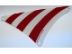 Part No: sailbb44  Name: Cloth Sail Triangular 17 x 20 with Red Stripes Pattern