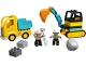Set No: 10931  Name: Truck & Tracked Excavator
