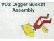 Set No: 2  Name: Digger Bucket Assembly