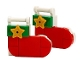 Set No: 41382  Name: Advent Calendar 2019, Friends (Day 10) - Two Christmas Socks Tree Ornaments