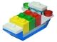 Set No: 60155  Name: Advent Calendar 2017, City (Day 14) - Cargoship Toy