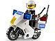 Set No: 7235  Name: Police Motorcycle - Blue Sticker Version