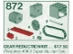 Set No: 872  Name: Two Gear Blocks (Gear Reduction Kit)