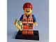 Set No: coltlm  Name: Hard Hat Emmet, The LEGO Movie (Complete Set with Stand and Accessories)