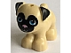 invID: 184937629 P-No: 24111pb01  Name: Dog, Friends, Pug, Standing with Black Face and Ears, Bright Pink Nose and Dark Azure Eyes Pattern (Toffee)