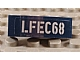 invID: 208891868 P-No: 50950pb055L  Name: Slope, Curved 3 x 1 with 'LFEC68' Pattern Model Left Side (Sticker) - Set 6867