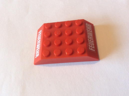 Lego 2 Dark Red 6x1 inverted brick block slopes with 1x4 cut out NEW